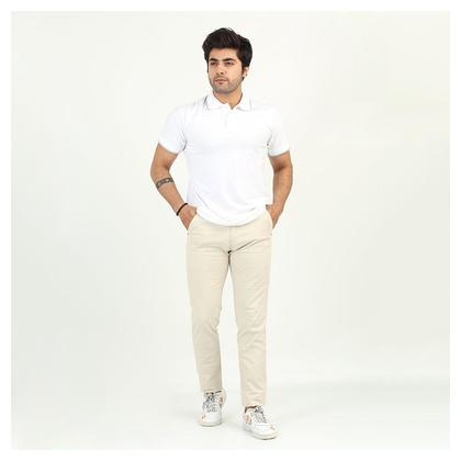 Mens Casual Club Cotton Pant - Beige Color by Chase Value Centre