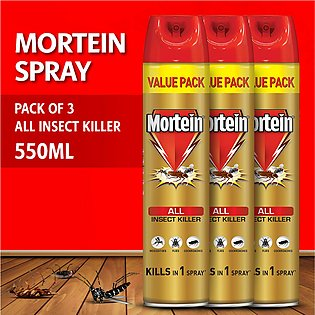 Pack of 3 Mortein Insta All Insect Killer Spray 550ml