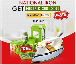 Buy National Iron and Get Nicer Dicer 10 in1 Free Flash Offer