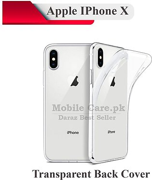 Apple iPhone X Transparent Back Cover Crystal Clear Cover For iPhone X