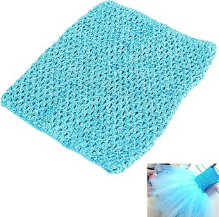 【Special Sale】Crochet Tube Top elastic Waistband Turquoise
