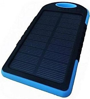 Solar Power Bank 5000 mAh - Black Blue