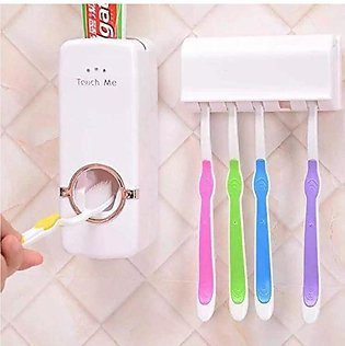 Toothpaste Dispenser And With Tooth Brush Holder