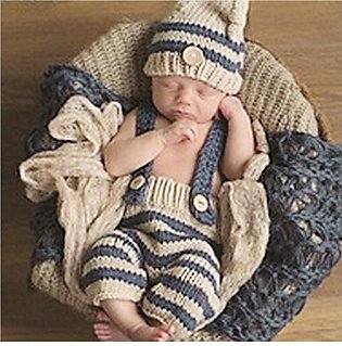 Newborn Baby Sweater Suits Girl Boy Photography Crochet Knit Costume Props