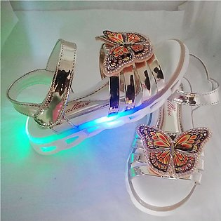 Imported Baby girl fancy Sandal shoes with light