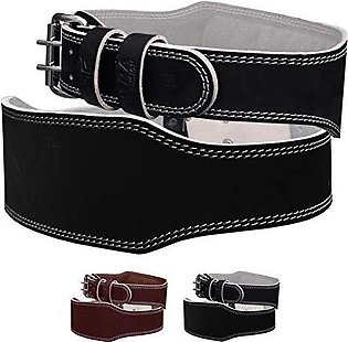 LEATHER WEIGHT LIFTING BELT 6 INCHES
