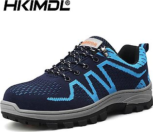 Men's High Quality Work Safety Shoes Breathable Mesh Sneakers Steel Toe Outdo...