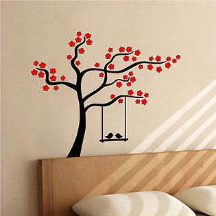 Multi colour red Beautiful Tree Wall sticker for room decoration Wall Decor for…