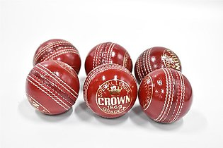 Crown Cricket Hard Ball Red Pack of 6