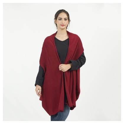 Ladies Free Size Long Sweater (K1) - Red Color by Chase Value Centre