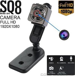 SQ8 - Mini Night Vision Ultra HD Camera - Black-SQ8 360 Degree Adjustable Autom…