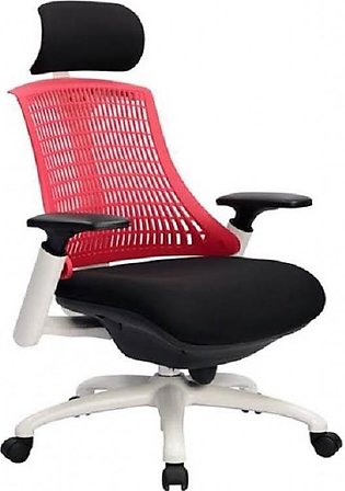 Neo - Office Revolving Chair - Red & White