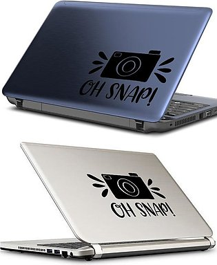 CAMERA LOGO OH SNAP Laptop Skin / Sticker, Removable