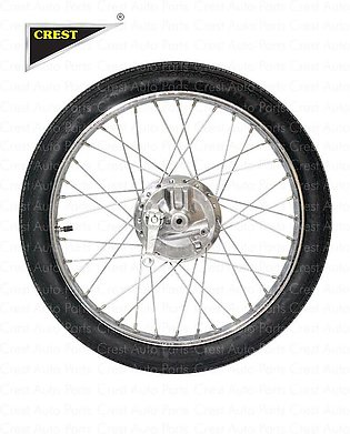 WHEEL COMPLETE BIG HOLE(FRONT) CDI-70 BOX PACK WITH RIM, DRUM, PANEL PLATE, NPL…