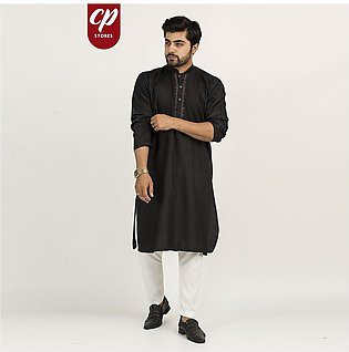 Cut Price Kurta for Men Royalty Collection Stitched Early Night Black