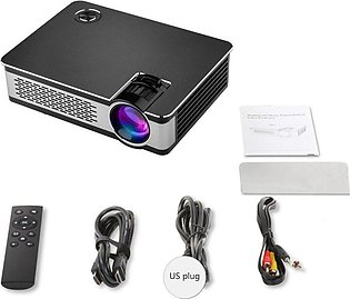 A6000 Portable Mini LED Projector with USB VGA HDMI AV Multimedia