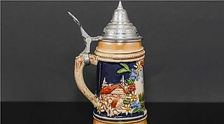 Traditional German Beeer Authentic Large Beeer Stein with Lid made in West Germ…