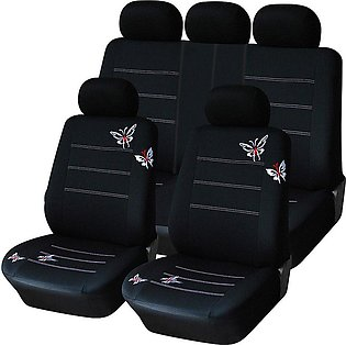 Car Seat Cover Universal Fit Interior Accessories Butterfly Black Covers