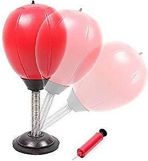 desktop punching bag -red