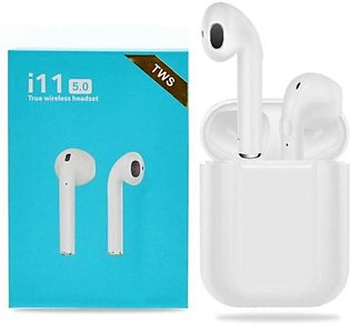 Pack of 2 | i11 TWS Air pods | Compatible with Android iOS | White