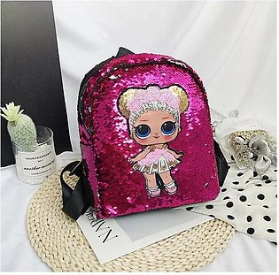 Women Backpack Sequin Glitter Shoulder School  Girls Shiny Bag