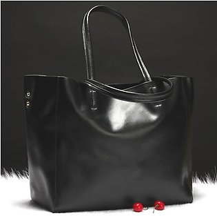 2017 new European and American fashion leather handbags women's leather shoulder bag large capacity shopping bag