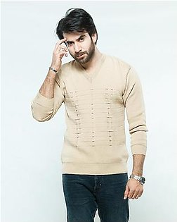 Oxford Wool Blend Pullover For Men
