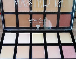 Makeup Kit Face, Cheeks, Eye Makeup 3 in 1 Set (10 Attractive Colours)
