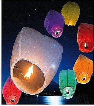 Pack Of 20 Flying Sky Lanterns For Events