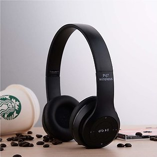 P47 WIRELESS HEADPHONES 5.0+EDR /BLUETOTH HEADPHONES