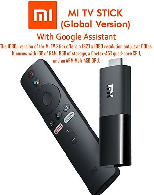 Xiaomi Mi TV Stick with Google Assistant Official Global Version Black