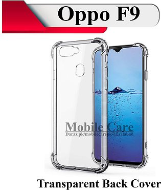 OPPO F9 Back Cover Transparent Extra Bumper Soft Crystal Clear Case For F9
