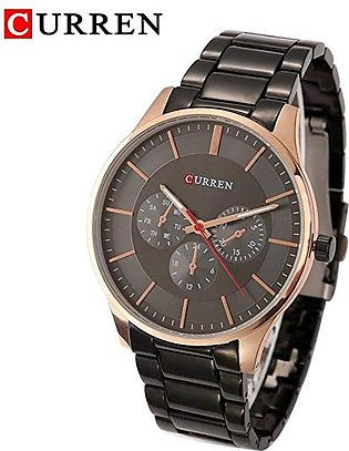 Curren Casual Watch For Men - Stainless Steel Band - 8282 With Brand Box