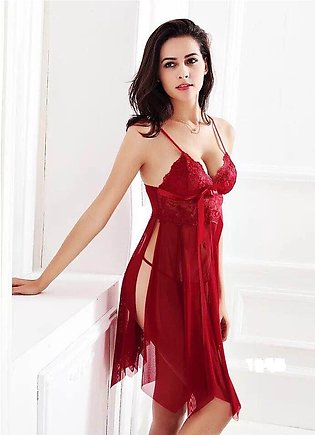 Nighty New Western Short Ladies Night Suit For Women Red Colour