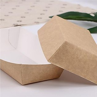 50Pcs Waterproof Oil Proof Paper Food Tray for Wedding Birthday Party