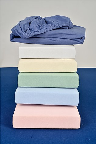 Xclusive Fabric Candied Cotton Knit Jersey Mattress Fitted Sheet . (8-Pieces)