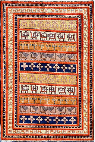 5 x 6 Hand Knotted Rugs | Sarjan Soumak, a hand-knotted rug in beautiful desi...