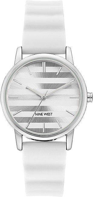 Nine West NW Silicone Strap Watch for Women