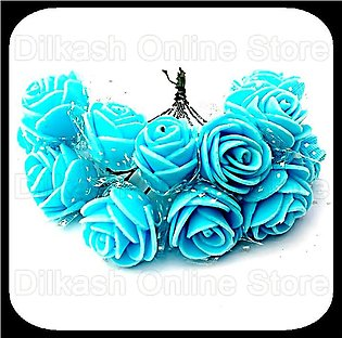 Fomic Sheet Flower – Sky Blue Foamic Flowers for Craft Projects and for Car W...
