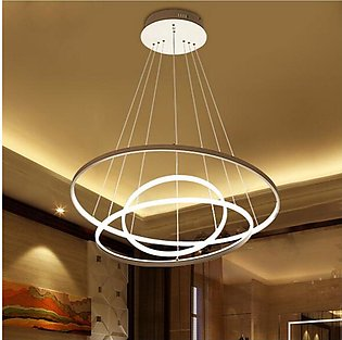 Circular Ring Pendant Lights 3/2/1 Circle Rings Acrylic Aluminum LED Chandelier…
