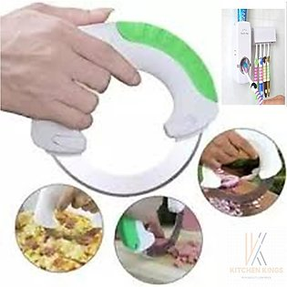 Pack Of 2 Bolo Rolling Knife Vegetable Cutter And Tooth paste Dispenser With To…