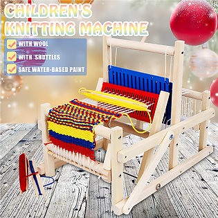 Wooden Traditional Weaving Loom Children Toy Craft Educational