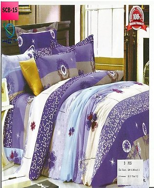 New Cotton Softy Foam Bedsheets With 2 Pillow Covers Scb-15 (R)