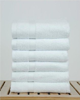 100 %  Cotton Bamboo Blended Ultra Soft White Hand Towel Set of 6 - 16 x 27