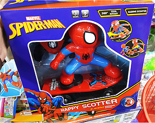 Spider Man Light & Music 360 Rotation Remote Control Sliding Scooter - SS