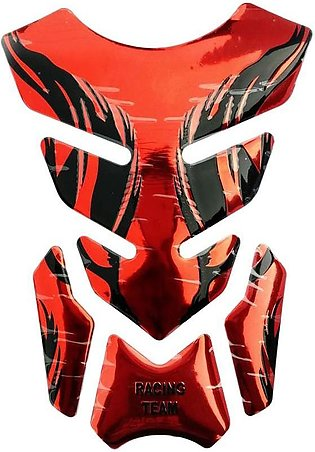 Motorcycle 3D Tank Pad - Red