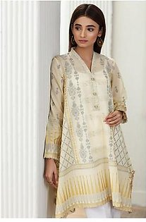 So Kamal Women Summer Collection Yellow 1 PCS Stitched- Paste Printed Kurti Int:L DPL 19-364
