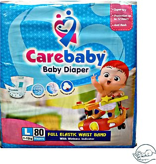 Care Baby Diaper  Large Size 80 Pcs