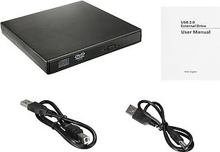 USB 2.0 External Blu-ray Combo DVD/CD Burner RW Drive for PC Laptop Windows Mac #black
