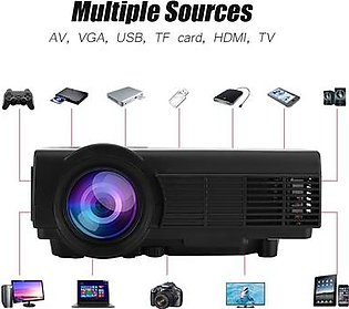 Mini Projector 1080P Home Theater Projector 37-100in Super Clear Stereo Sound Video Projectors - AU Plug